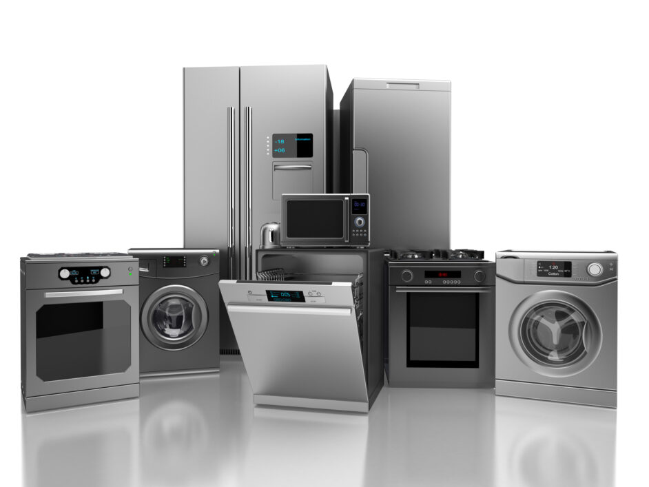 assortment of stainless steel appliances