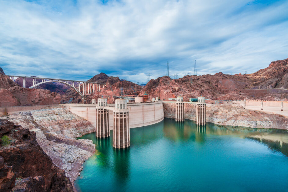 the hoover dam in nevada, usa